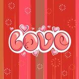 Liebes-Hintergrund vektor abbildung