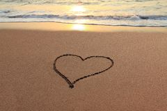 Liebes-Inneres auf dem Strand Lizenzfreie Stockbilder