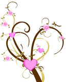 Liebes-Kirschblüten-Baum Stockfotos