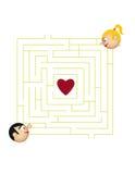 Liebes-Labyrinth Stockbilder