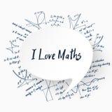 Liebes-Mathehintergrund des Vektor-I lizenzfreie abbildung