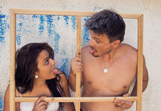 Liebes-Paare, die Spaß haben Lizenzfreie Stockfotografie