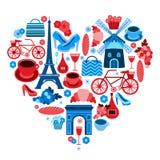 Liebes-Paris-Herzsymbol vektor abbildung