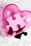 Liebes-Puzzlespiel Stockbild