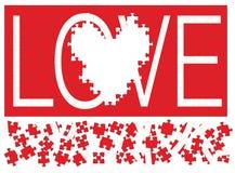Liebes-Puzzlespiel III lizenzfreie abbildung