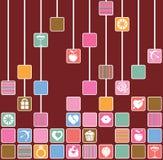 Liebes-Quadrate Stockbilder