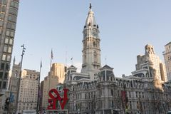 Liebes-Skulptur in Philadelphia, Pennsylvania Stockbild