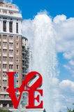 Liebes-Statue, Philadelphia Lizenzfreies Stockfoto