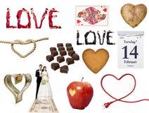 Liebes-Symbolcollage lizenzfreie abbildung