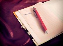 Liebes Tagebuch Lizenzfreies Stockbild