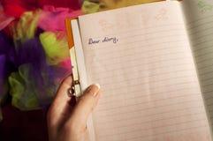 Liebes Tagebuch Lizenzfreie Stockfotografie
