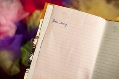 Liebes Tagebuch Stockfoto