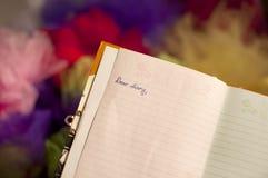 Liebes Tagebuch Stockfotografie