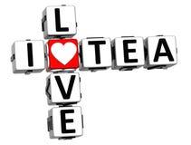 Liebes-Tee-Kreuzworträtsel 3D I Stockbild
