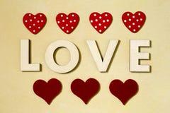 Liebes- und Valentinsgrußtageshintergrund Lizenzfreies Stockfoto