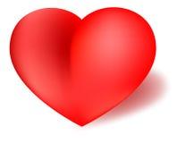 Liebes-Valentinsgruß-Inner-Rot Lizenzfreie Stockfotos