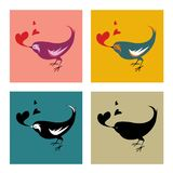 Liebes-Vogel-Veränderung Stockfoto