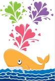 Liebes-Wal stock abbildung