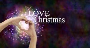 Liebes-Weihnachtsfahne Stockfoto