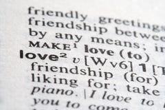 Liebes-Wort Stockbilder