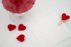Liebesanmerkung Valentinsgruß ` s Tag Lizenzfreie Stockfotografie