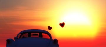Liebesauto Stockbild