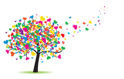 Liebesbaum vektor abbildung