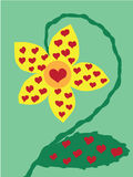 Liebesblume lizenzfreie abbildung