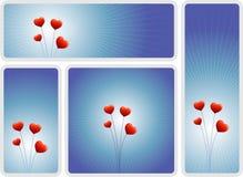 Liebesblumen-Fahnenset Stockfotografie