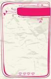 Liebesbrief des Valentinsgrußes Lizenzfreie Stockbilder