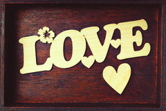 Liebesbrief in einem Kasten lizenzfreie stockbilder