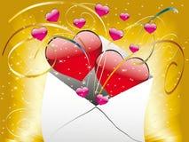 Liebesbrief mit einem Inneren Lizenzfreies Stockfoto