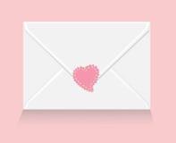 Liebesbrief mit Inneraufkleber Stockfotografie