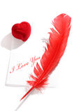 Liebesbrief-noch Leben Lizenzfreies Stockbild