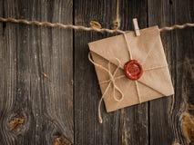 Liebesbrief und Bleistift Lizenzfreies Stockfoto