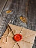 Liebesbrief und Bleistift Stockbild