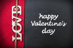 Liebesbriefe herausgeschnitten vom Sperrholz Stockfotografie