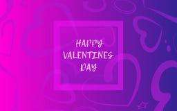 Liebesfahne oder Grußkarte vektor abbildung