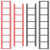 Liebesfilmstreifen mit Herzen Lizenzfreies Stockfoto