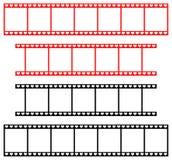 Liebesfilmstreifen mit Herzen Lizenzfreie Stockfotografie