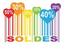 Liebesformfarbe-soldes Stange Lizenzfreie Stockfotografie