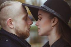 Liebesgeschichte geschossen von einem Paar Stockfotos
