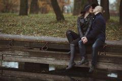 Liebesgeschichte geschossen von einem Paar Lizenzfreie Stockbilder