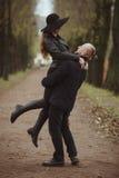 Liebesgeschichte geschossen von einem Paar Stockbilder