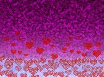 Liebesglühenhintergrund-Unschärfeeffekte stockfoto