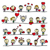 Liebesgrenzen Stockbild