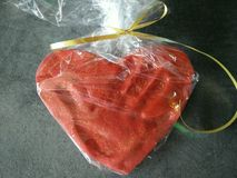 Liebeshand-serce Herz Stockbild