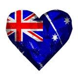Liebesherz-Australien-Flagge Stockfotografie