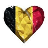Liebesherz-Belgien-Flagge Stockbild
