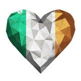 Liebesherz-Irland-Flagge Stockbilder